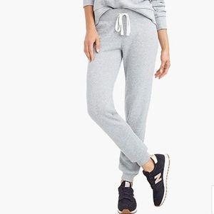 NWT J.Crew Super Soft Fleece Sweatpants in gray
